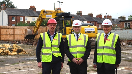 Councillor David Mackintosh and Councillor Tim Hadland at Albion Place hotel site