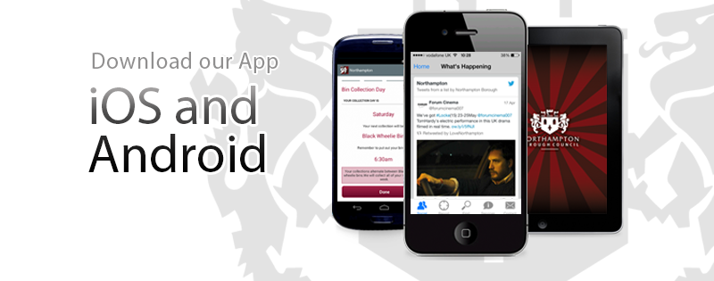 Download our mobile app to report problems on the move