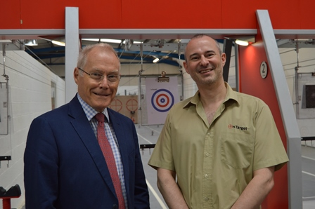 Councillor Tim Hadland with Gordon Gaze at OnTarget