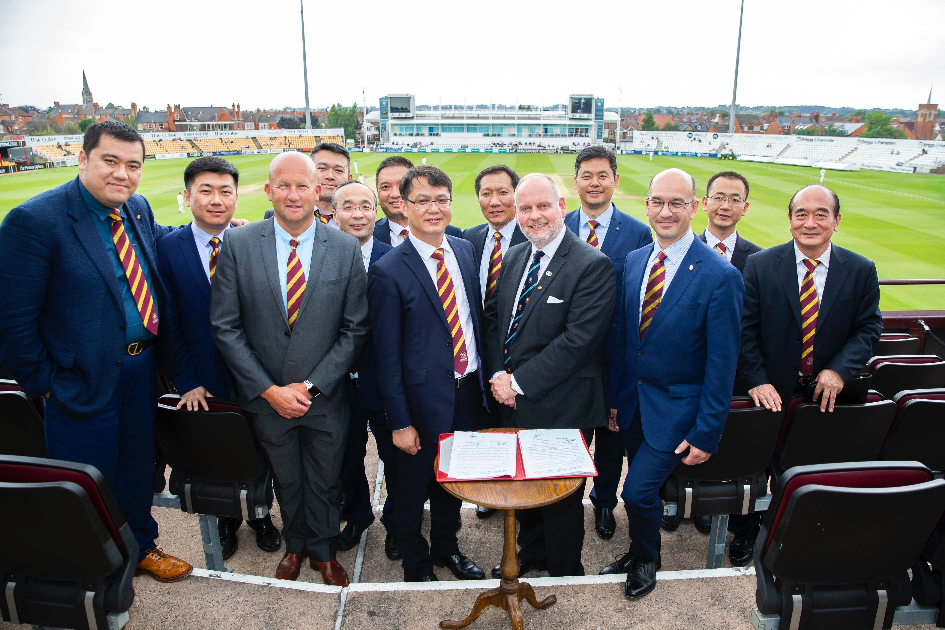 Northants County Cricket, Tangshan, Chinese, delegation, business