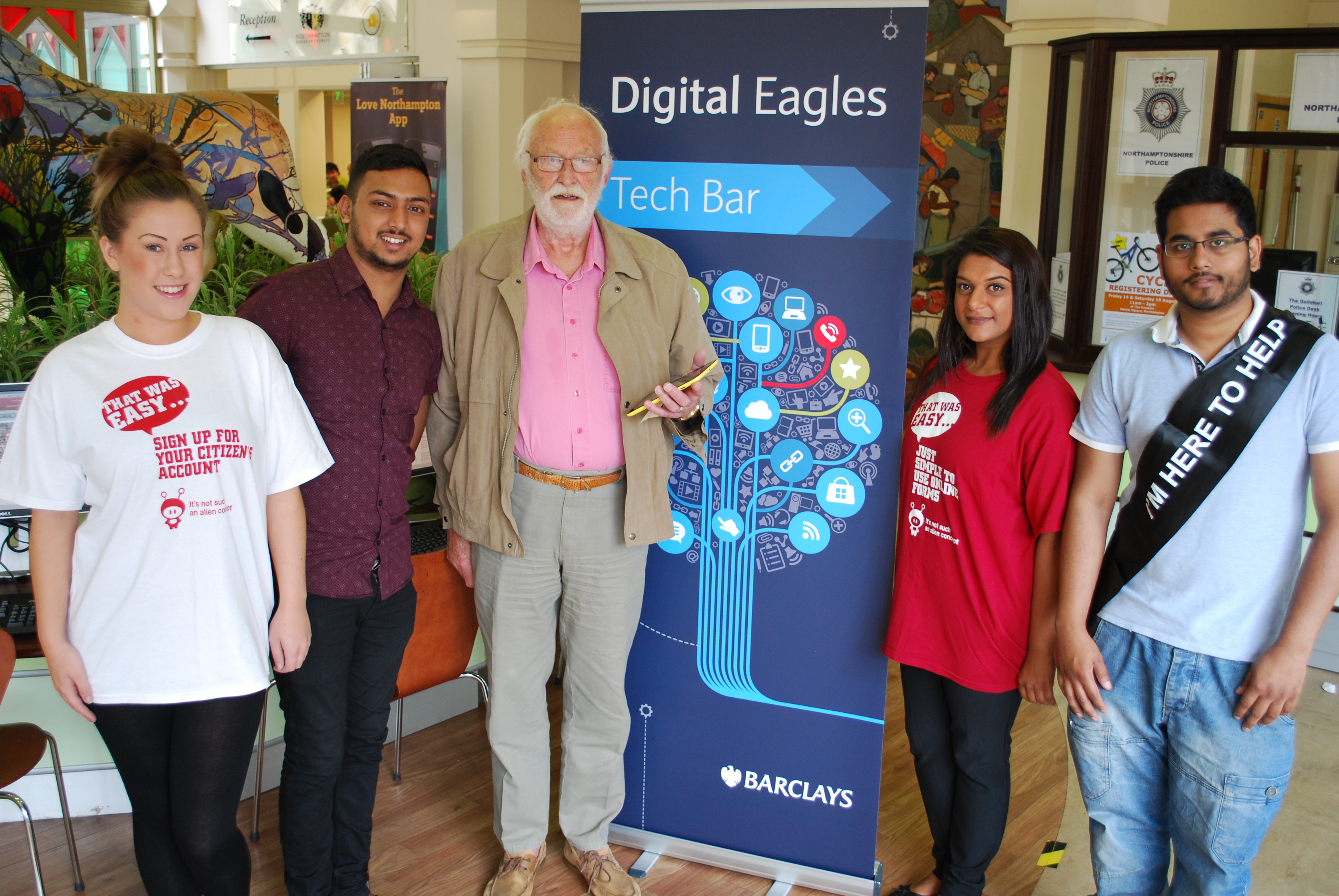Joseph with the Digital Eagles at the One Stop Shop