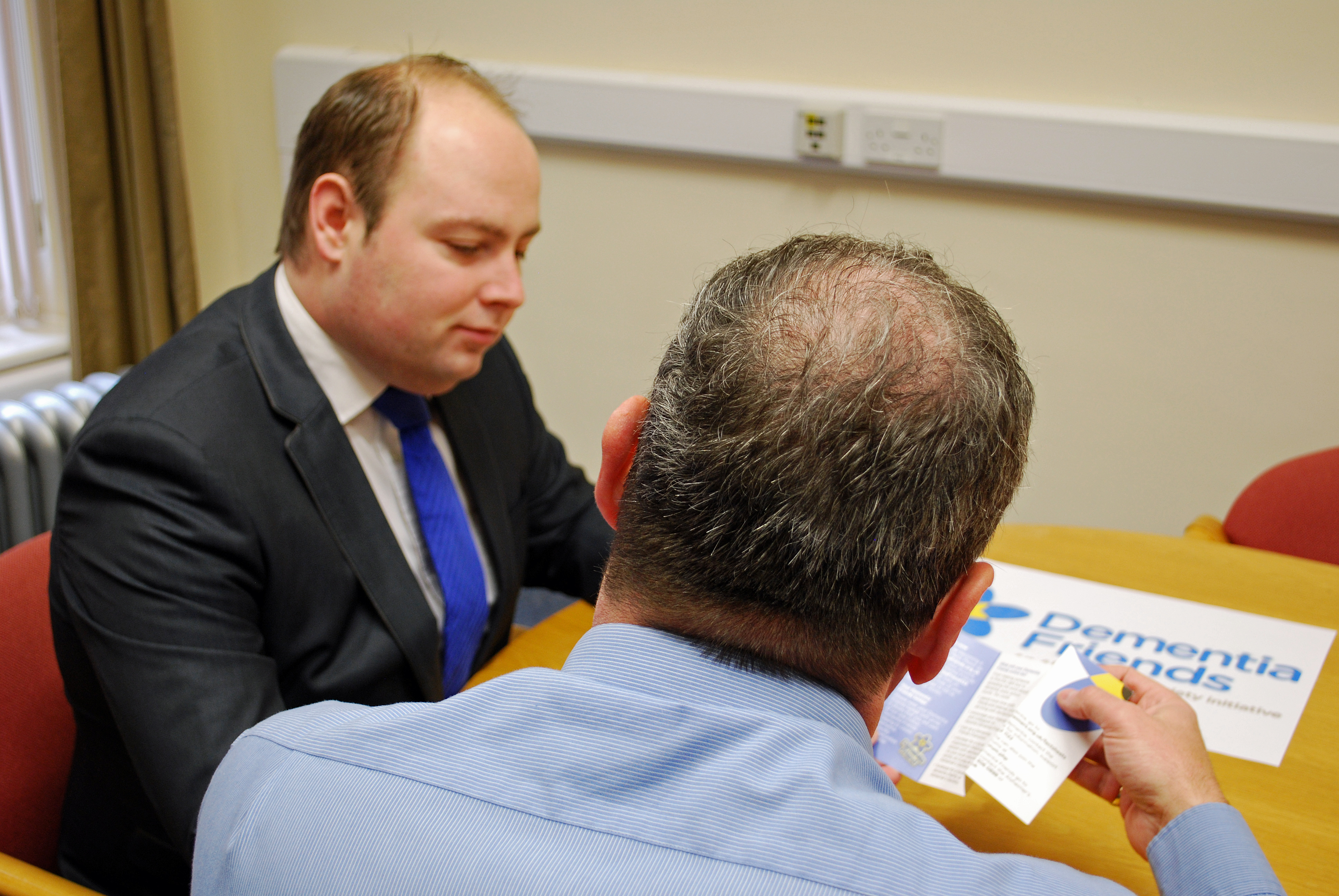 Councillor David Mackintosh in the dementia training session