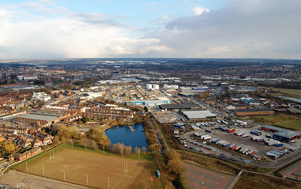 A view across the Waterside Enterprise Zone