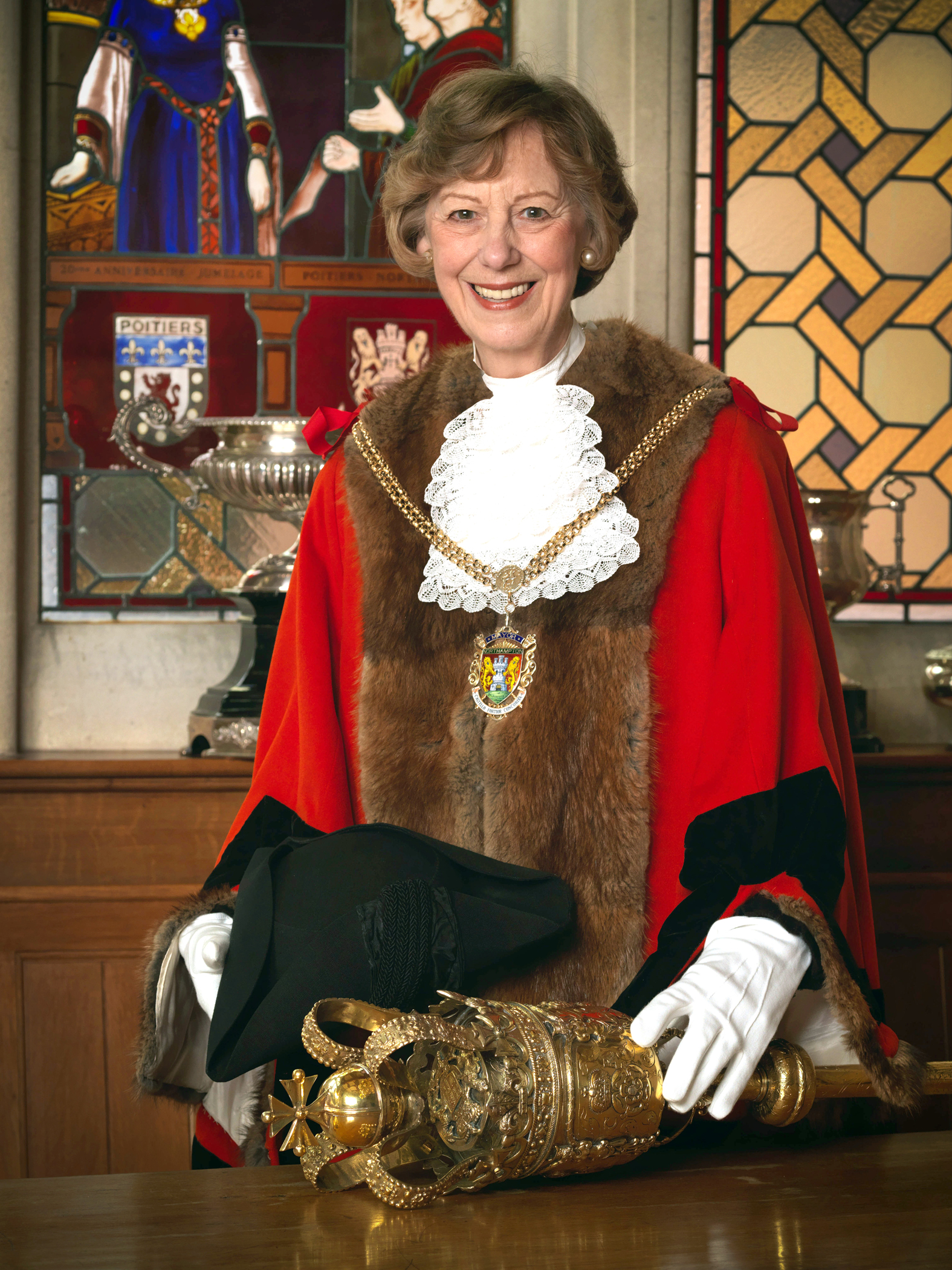Cllr Penelope Flavell, the new Mayor of Northampton