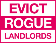 Rogue landlords campaign sign