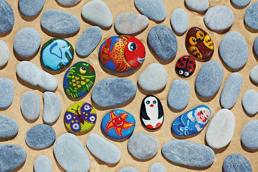 Pebble painting workshop
