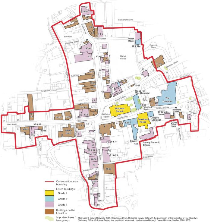 All Saints Conservation Area Map