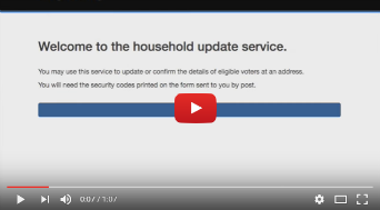 Video of how to confirm no changes to your household voter registration details