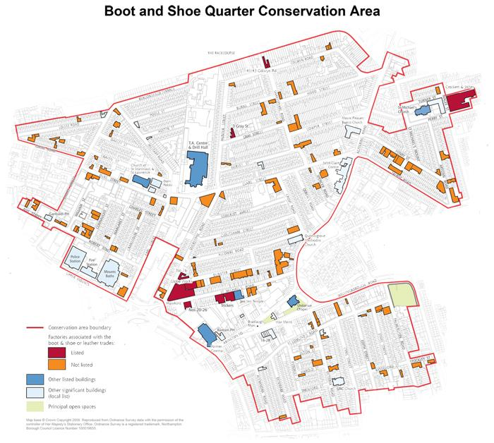 Boot and Shoe Conservation Area Map