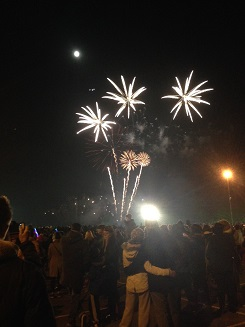 Fireworks at the 2014 bonfire night event