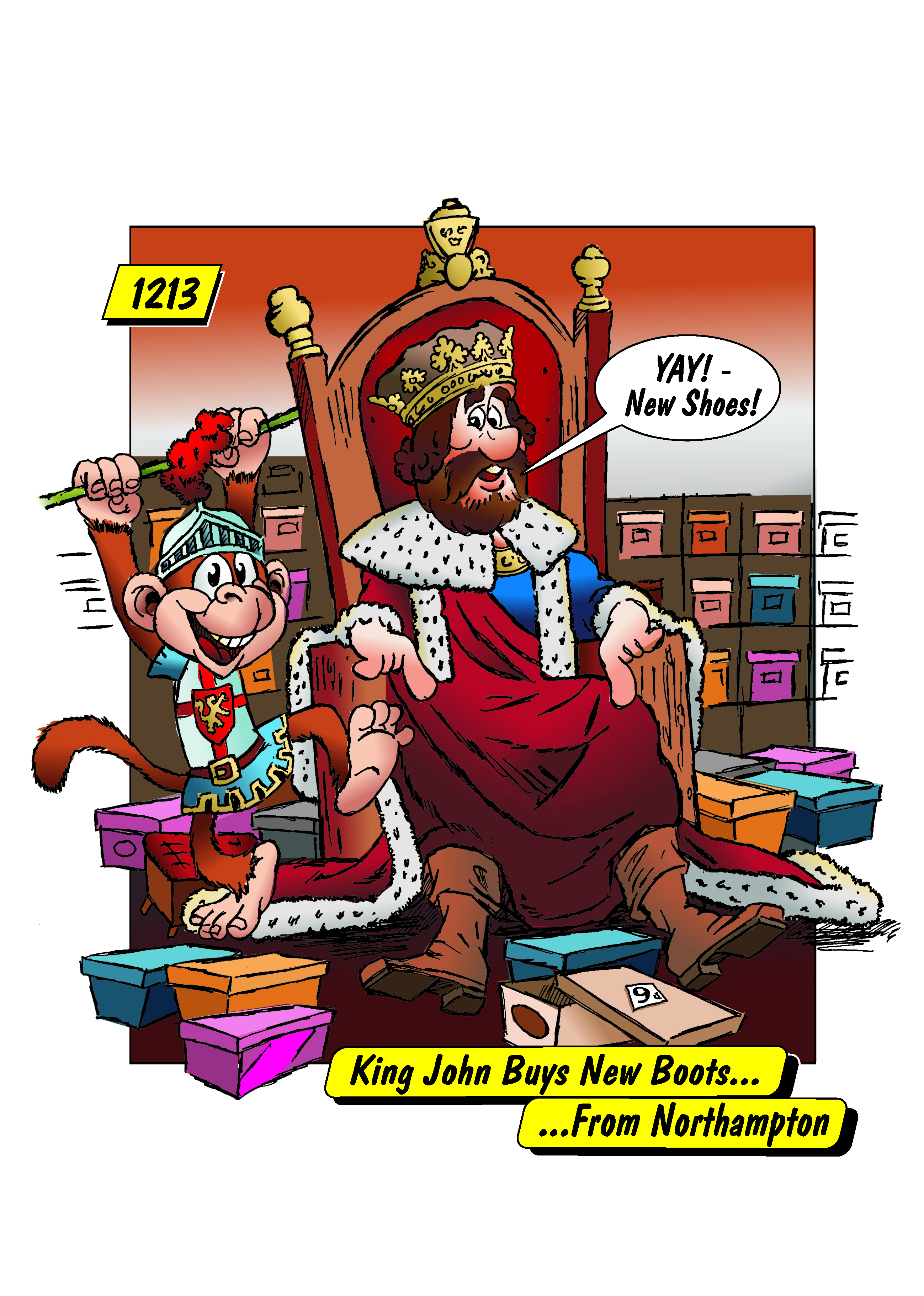 King John buys new boots from Northampton