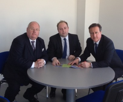 Councillor David Mackintosh meets the Prime Minster, David Cameron and Secretary of State Eric Pickles