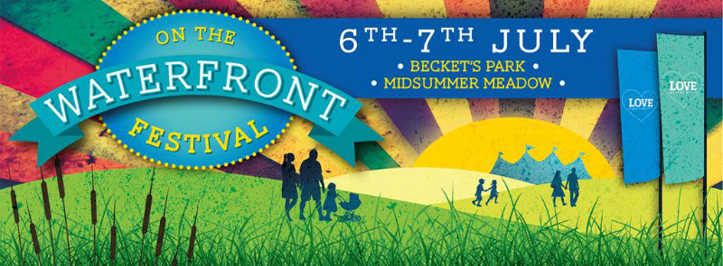 'On the Waterfront' festival banner