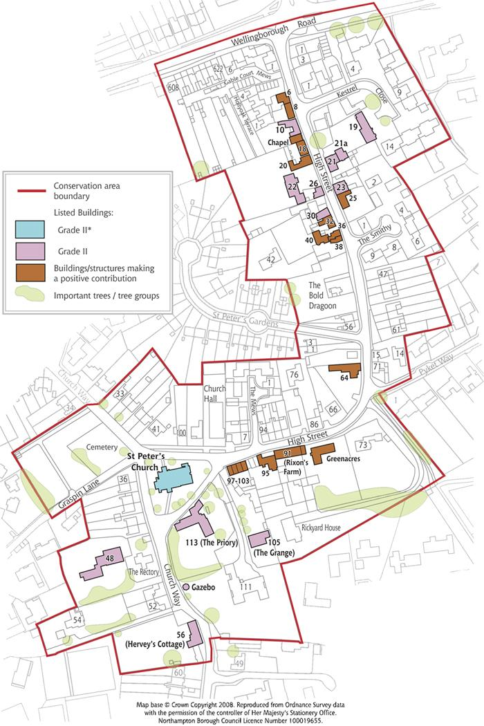 Weston Favell Conservation Area map