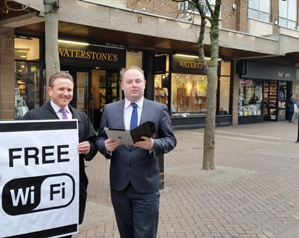 Free WiFi comes to Abington Street
